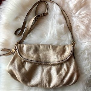 Aimee Kestenberg Champagne Leather Crossbody